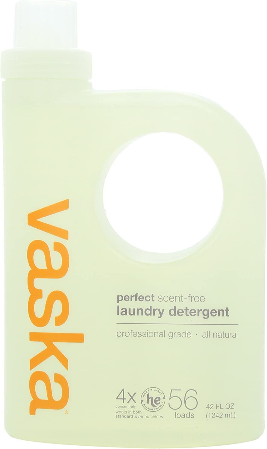 vaska Perfect Laundry Detergent, Scent Free, 42 Fluid Ounce
