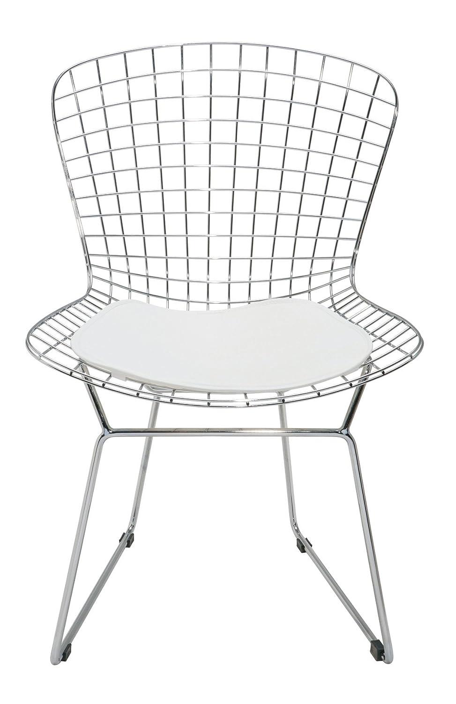 Amazon.com: wireback silla de comedor – Blanco – Cojín ...