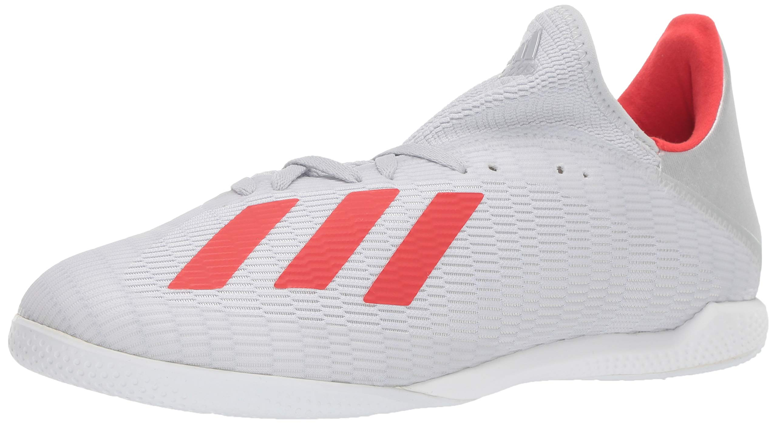 adidas Men's X 19.3 Indoor Soccer Shoe, Silver Metallic/hi-res red/White, 13.5 M US by adidas