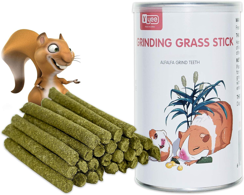 FJNATINH Natural Timothy Hay Sticks Small Animals Molar Chew Toys Sticks for Rabbit, Chinchilla, Guinea Pigs, Squirrel, Hamster