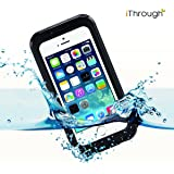 iPhone 5 Waterproof Case, iThroughTM iPhone 5s Waterproof Case, Dust Proof, Snow Proof, Shock Proof Case with Screen Protector Carrying Cover Case for iPhone 5, iPhone 5s, iPhone 4s, iPhone 4 (Black)
