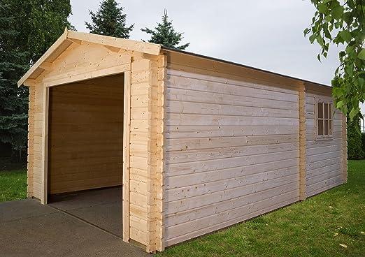 Garaje 3454 – Box coche de madera de jardín Abeto Natural gartenpro: Amazon.es: Jardín