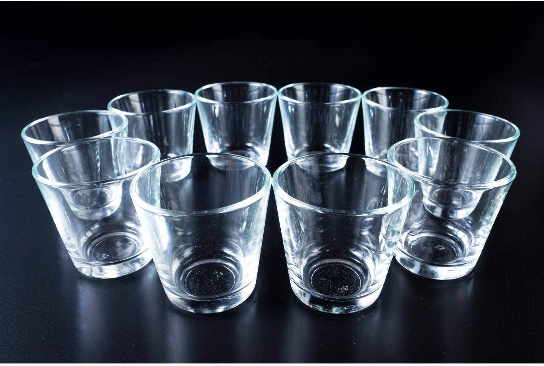 /Ø 7,5 cm Bougeoir//Porte-Bougie Noir INNA Glas Petit photophore en Verre Alex 7,5 cm