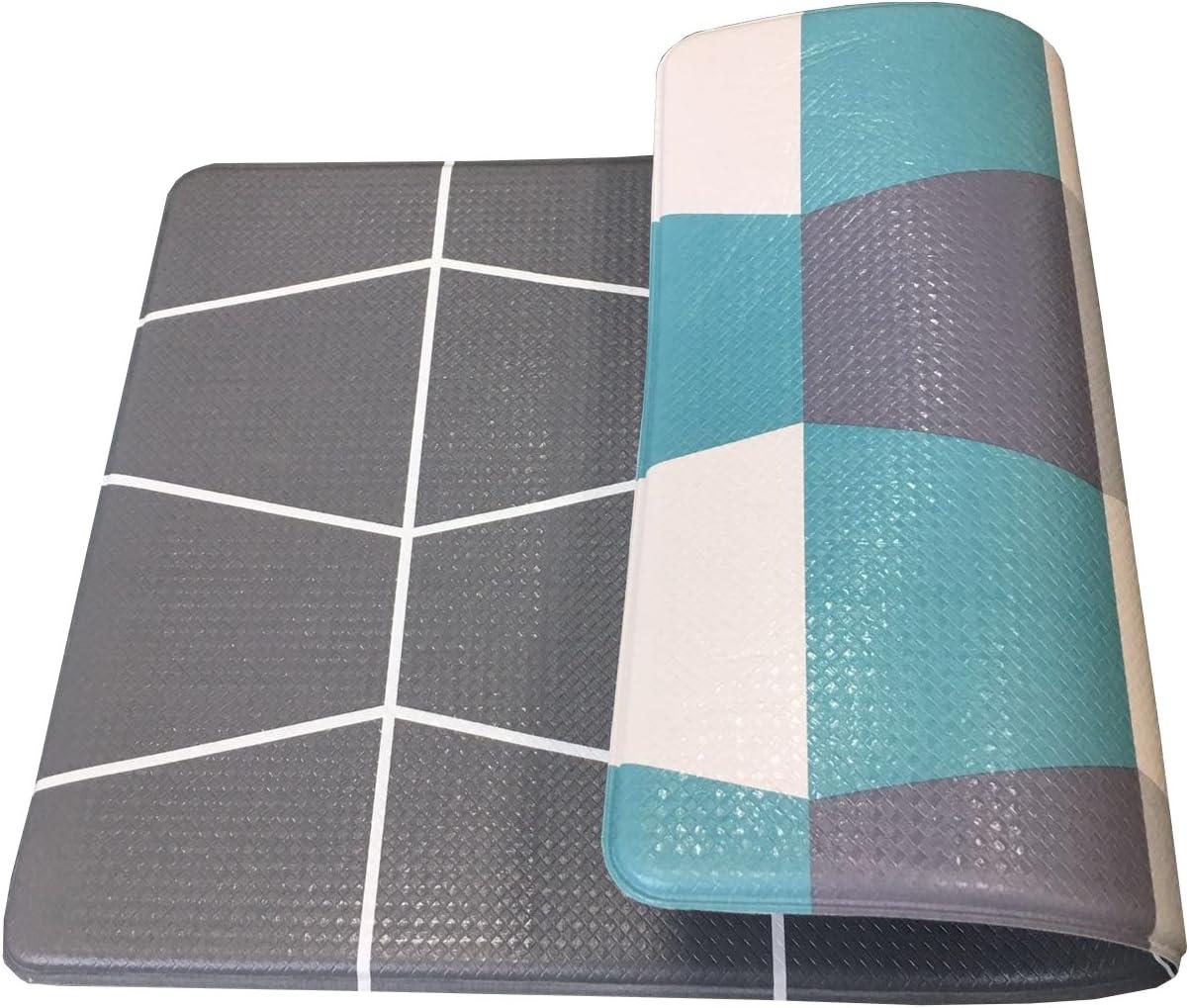 """Art3d Premium Reversible Cushion Kitchen Mat Anti Fatigue Kitchen Comfort Mat Standing Floor Mat, 18"""" x 30"""" Gray-Green"""