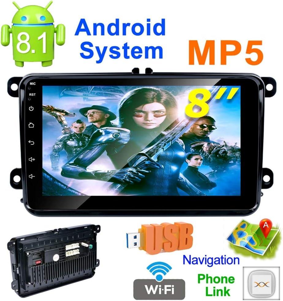 QinLL Reproductor Multimedia para Coche Android 8.1 de 8 Pulgadas ...