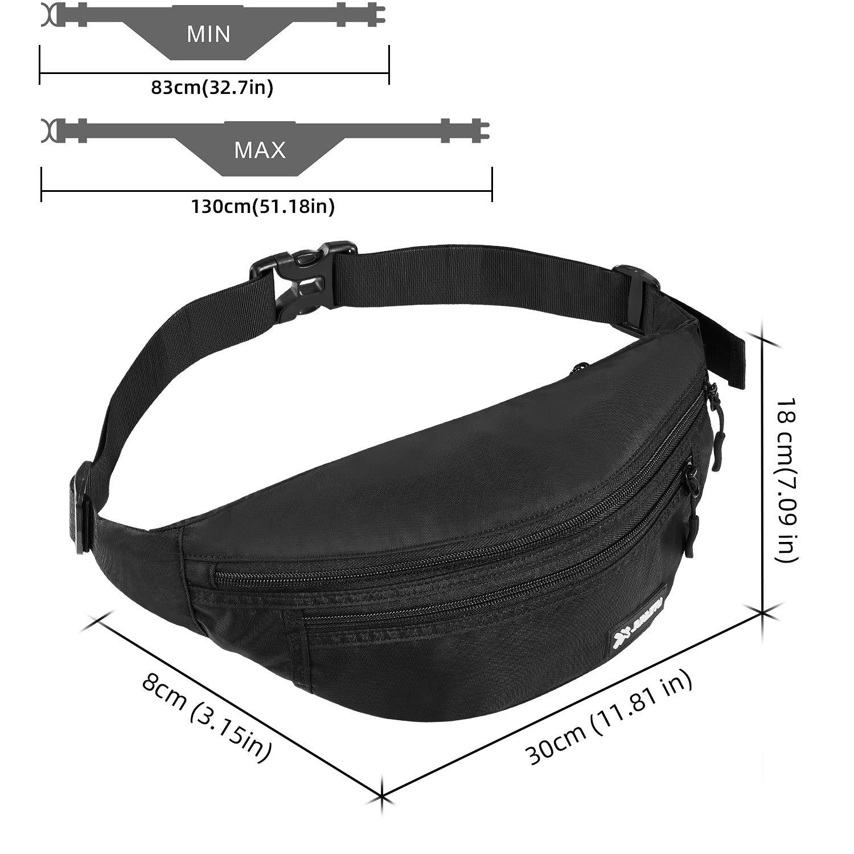 Viajar//Correr//Moto//Bici//Acampada//Comprar MOCOCITO Ri/ñoneras Hombre y Mujer Impermeable con Correa Ajustable de 120 cm,Gran Capacidad para Tel/éfono DE 6.5 Pulgadas//Llaves//Gafas