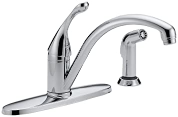 Delta DST Collins Single Handle Kitchen Faucet With Spray - Amazon com delta faucet kitchen sink faucets kitchen faucets