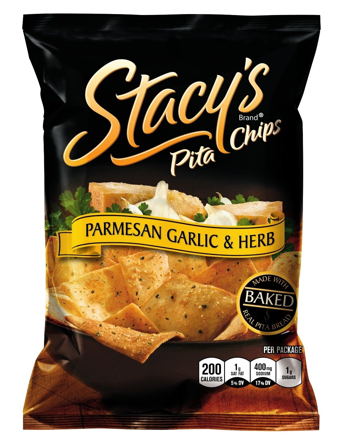 Stacy's Pita Chips, Parmesan Garlic and Herb, 1.5 Ounce (Pack of 24)