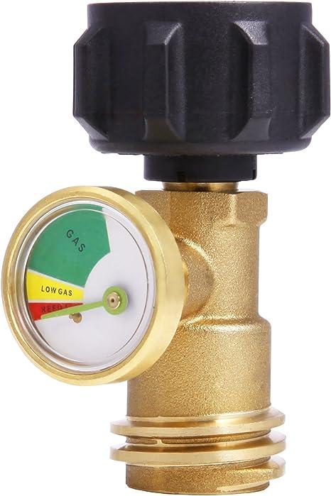 SAIDE Detector de tanque de propano, indicador de nivel, detector de fugas, medidor de presión de gas, universal para caravana, parrilla de gas, ...