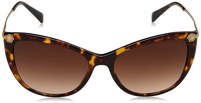 cf7886c7ad Versace Women s Gradient VE4345B-108 13-57 Brown Butterfly Sunglasses   Versace  Amazon.ca  Clothing   Accessories
