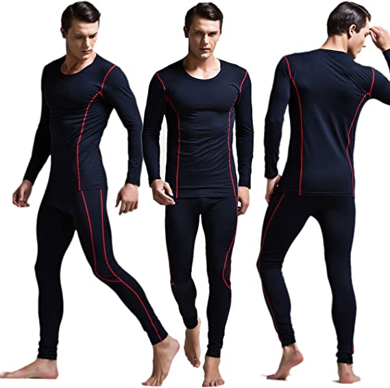 Yeke Men Warm Cotton Warm Thermal Underwear Sets Soft Long Johns Underpants