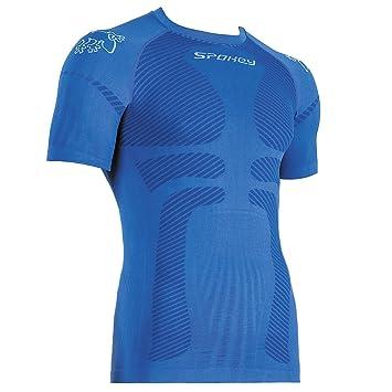 Spokey - Camiseta térmica para hombre, esquí, snowboard, esquí de fondo, ciclismo
