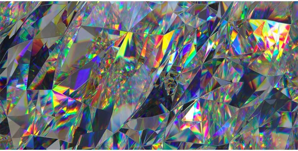 Amazon Com Abstract Crystal Background 8x5ft Rainbow Texture