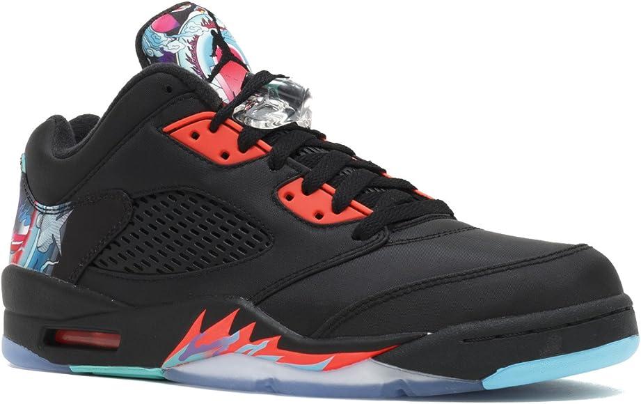 online store 5885b 3b47c Jordan Men s Air 5 Retro Low CNY, Chinese New Year-Black Black-