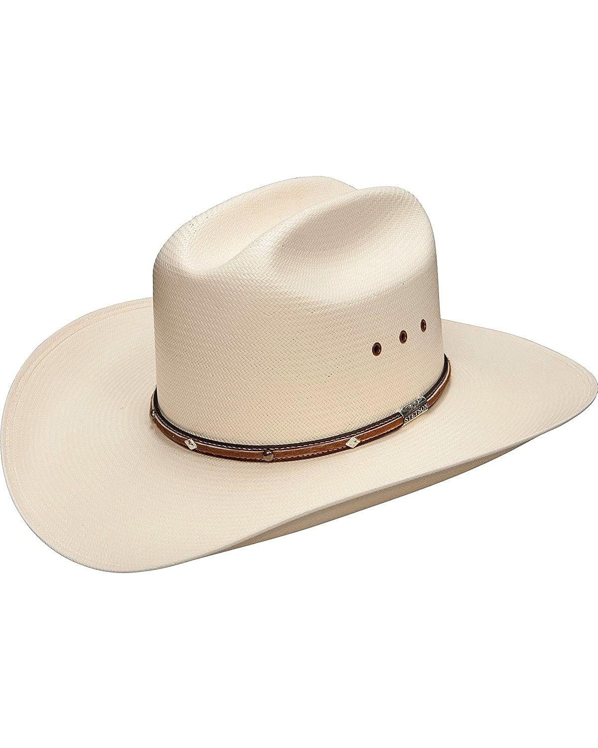 Stetson Men s Angus 10X Shantung Straw Cowboy Hat at Amazon Men s Clothing  store  Cowboy Hats For Men 84bc25a9731
