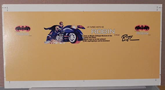 ROBIN TURBO CYCLE BATMAN TOY PRODUCTION ART PROOF SIGNED BRUCE TIMM AUTOGRAPH