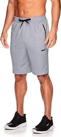 AND1 Pantalones cortos de baloncesto para hombre con cordón elástico en la cintura y bolsillos con cierre