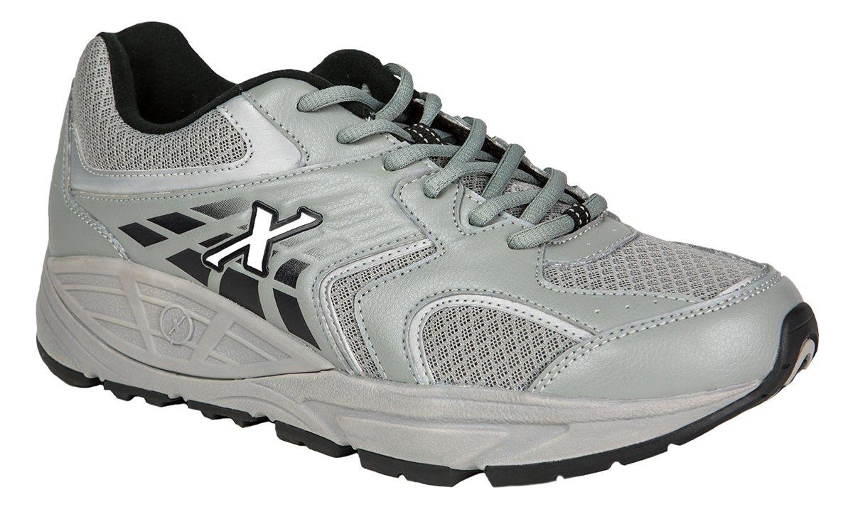 Xelero Matrix One Men's Comfort Therapeutic Extra Depth Sneaker Shoe: Grey/Black 10.5 X-Wide (4E) Lace by Xelero