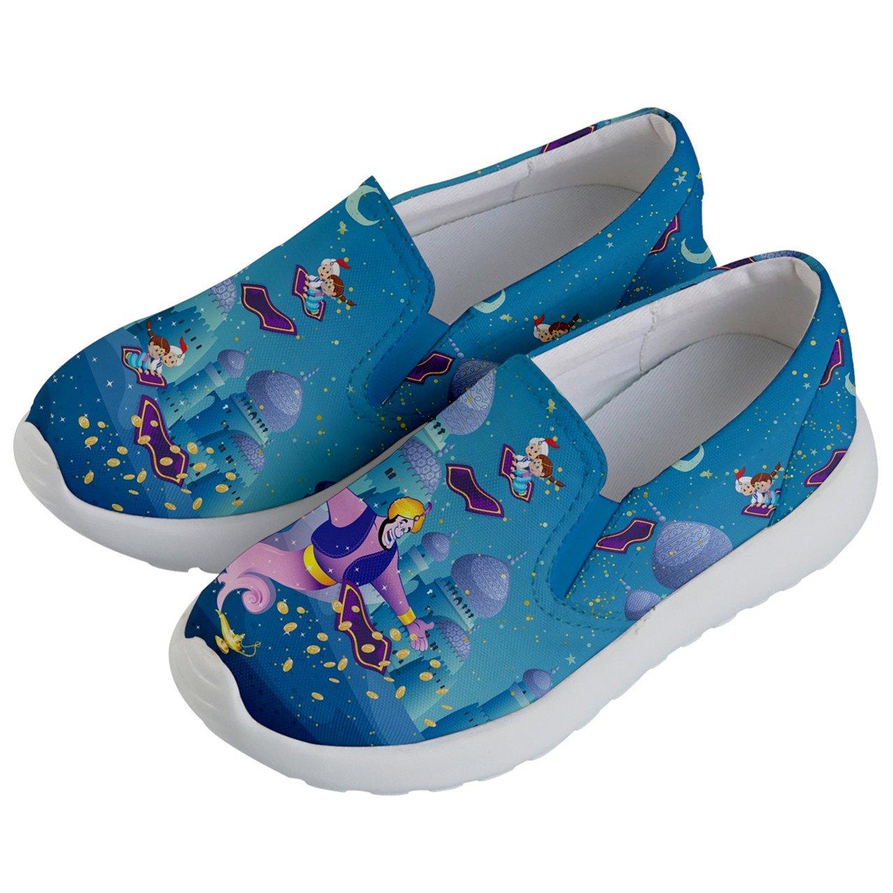 508b04aa Amazon.com: PattyCandy Unisex Shoes Woodland Elephant Chipmunk Clownfish  Fairies Cowboy Fairytale Cartoon Kids Lightweight Slip Ons: Clothing