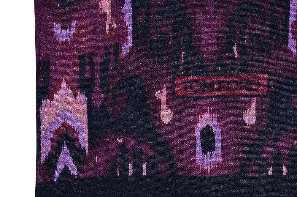96d143a8aa2e Tom Ford Écharpe Homme Pourpre Multicolore Cachemire 123 cm x 121 cm   Amazon.fr  Vêtements et accessoires