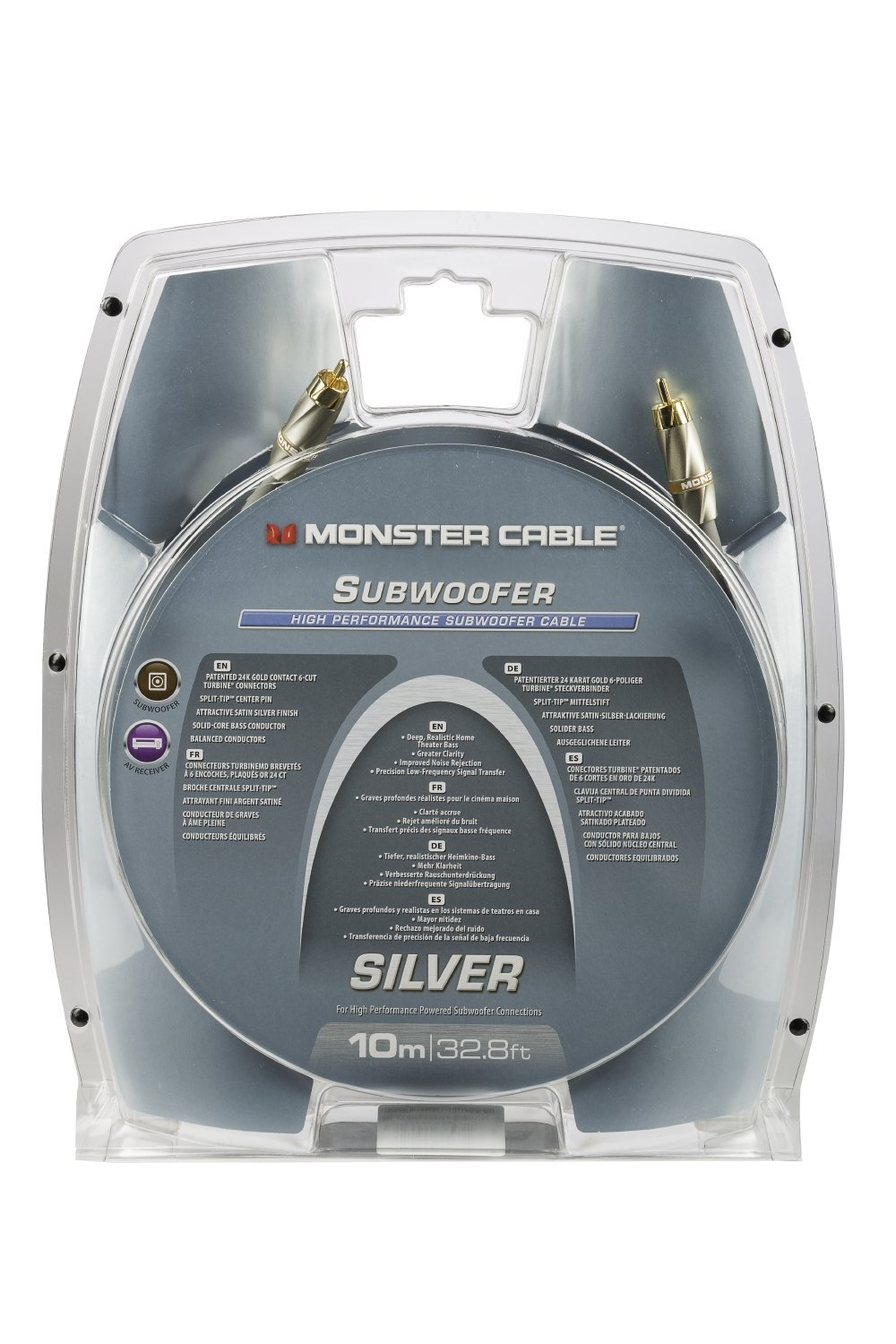Monster Cable Silver High Performance Subwoofer Audio Cable, 10M (32.8 Ft) … by Monster (Image #2)