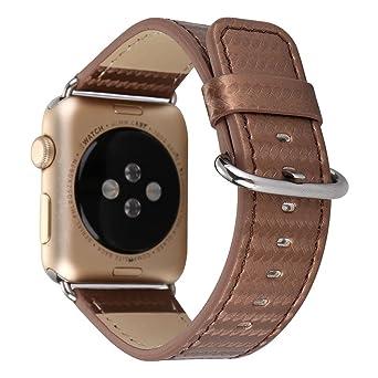 Bracelet en Cuir en Fibre De Carbone 42Mm Bracelet Apple| Bracelets De Remplacement en Facilement