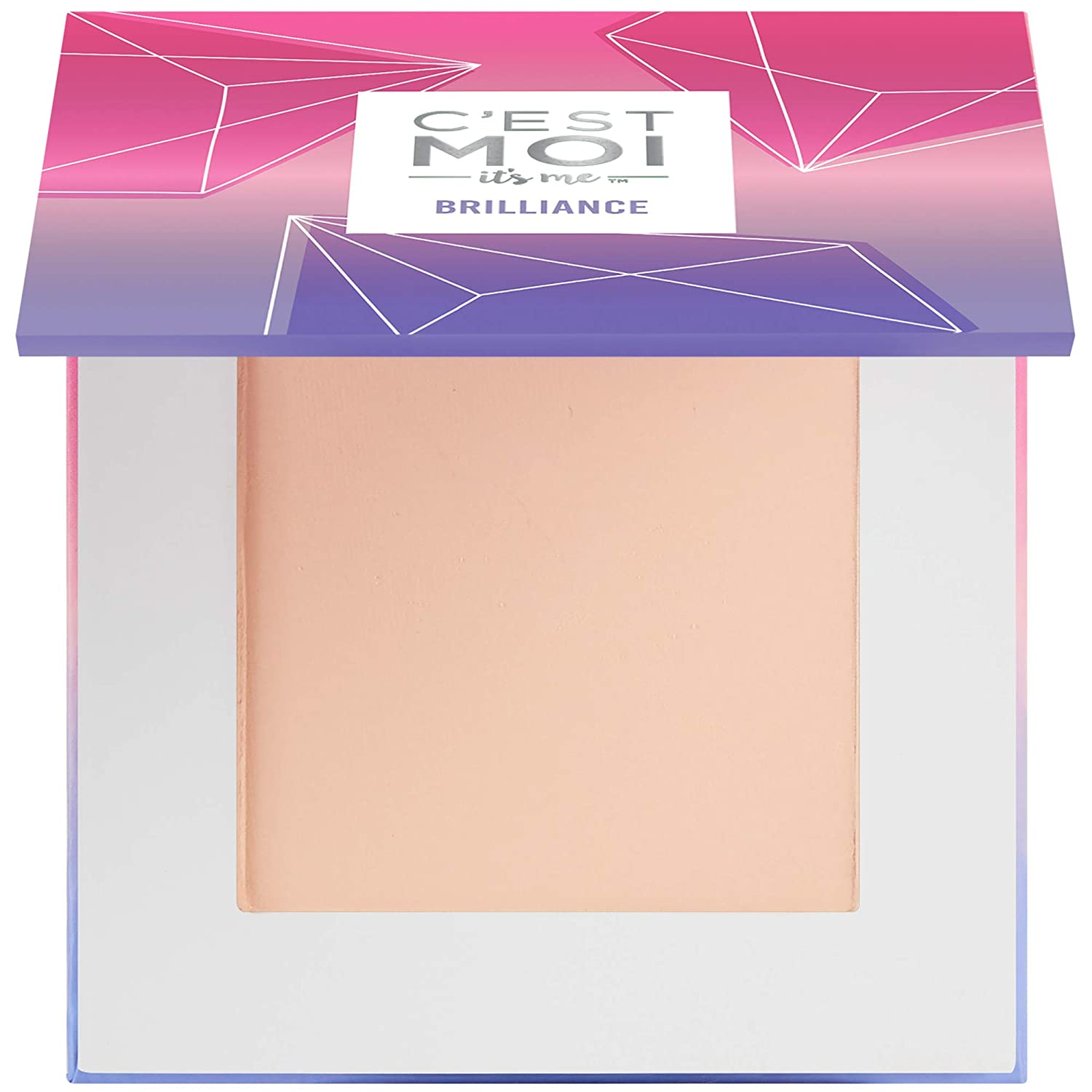 The C'est Moi Brilliance Pressed Powder Foundation travel product recommended by Deborah Kerner on Pretty Progressive.