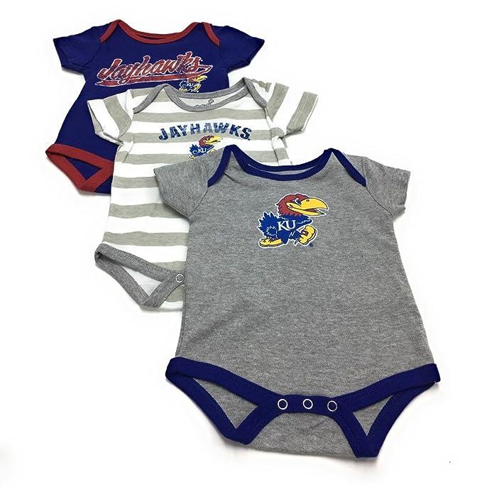 Bib and Bootie Set Infant Set Outerstuff Kansas Jayhawks KU Creeper