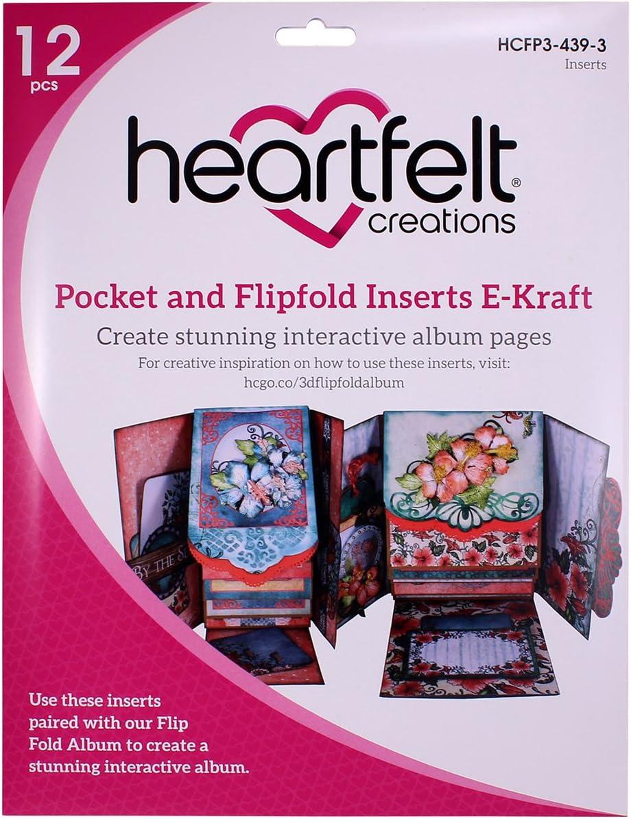 31.59/x 31.19/x 0.05/cm Heartfelt Creations Poche et Flip-Fold Inserts Multicolore