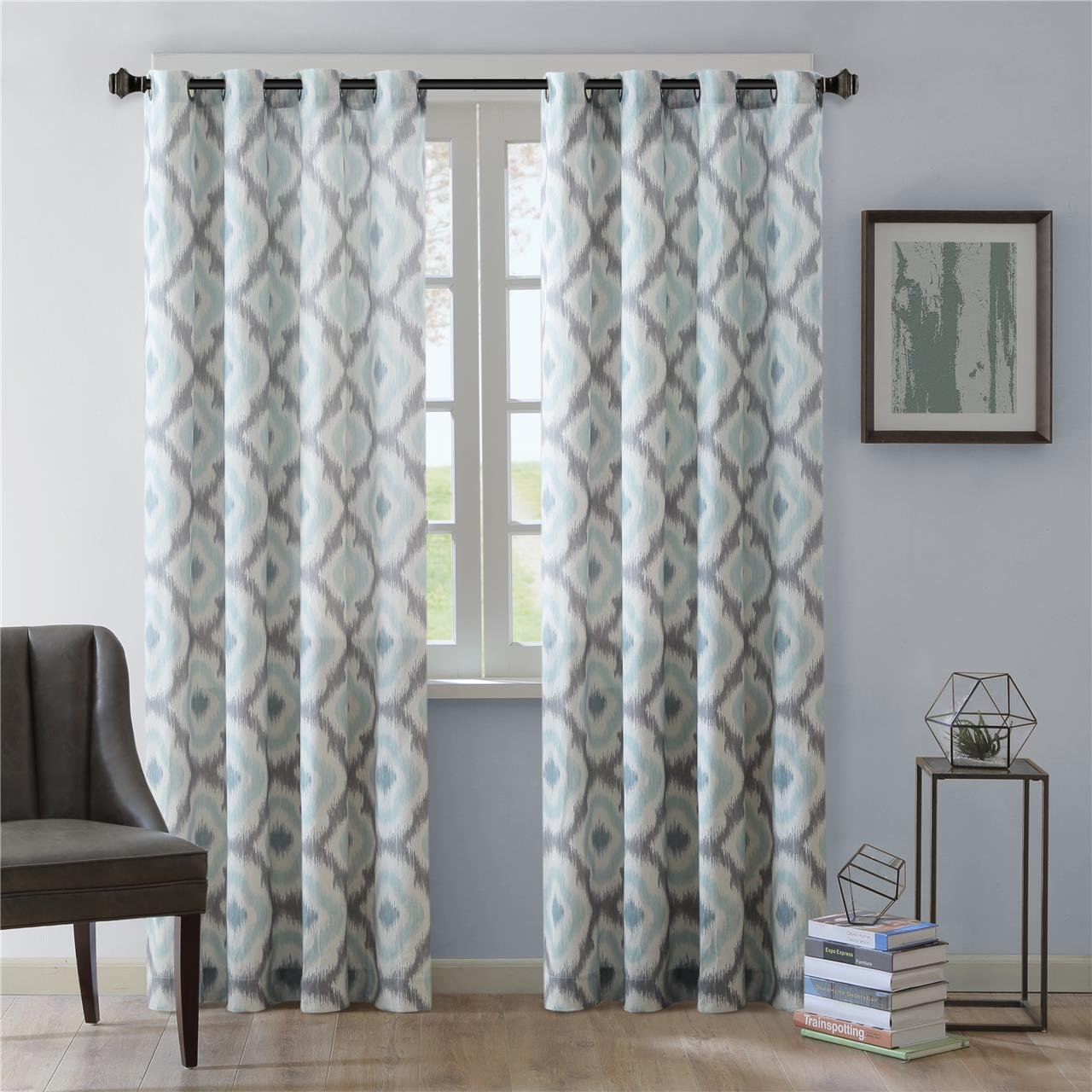Amazon Ink Ivy Grommet Curtains For Living Room Ankara Print Taupe Window Bedroom Family Modern Contemporary