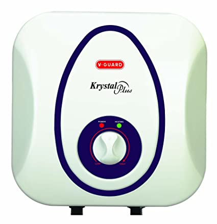 V-Guard Krystal Plus ABS Water Heater, 6L(White and Blue)