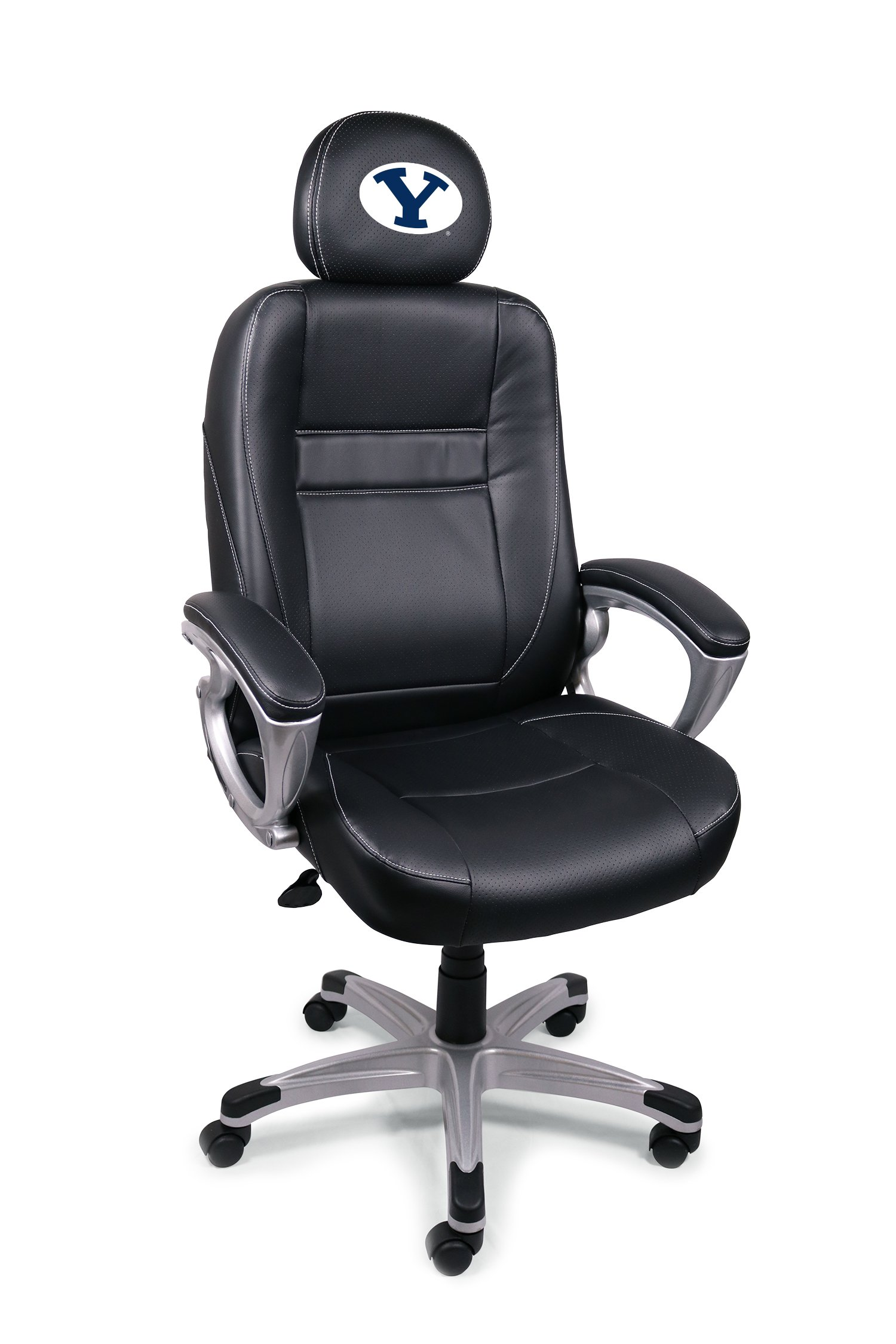 Wild Sports NCAA College BYU Cougars Leather Head Coach Office Chair