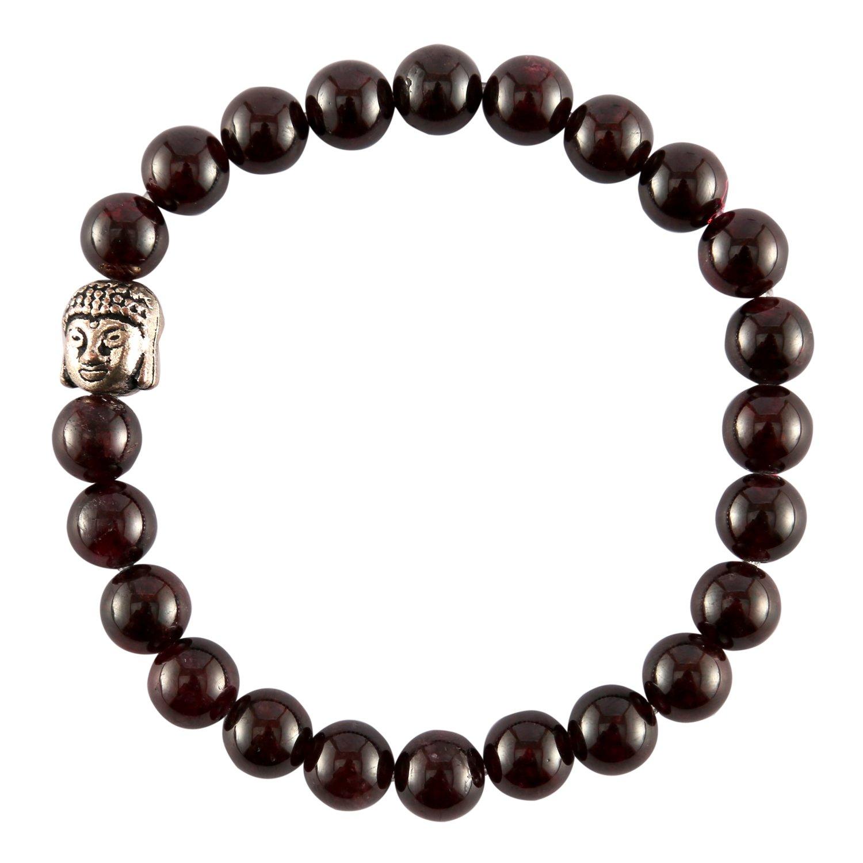 Aatm Reiki Garnet Beaded Gemstone Bracelet (Stone Of Health) Aatm Collection CNGPC-141