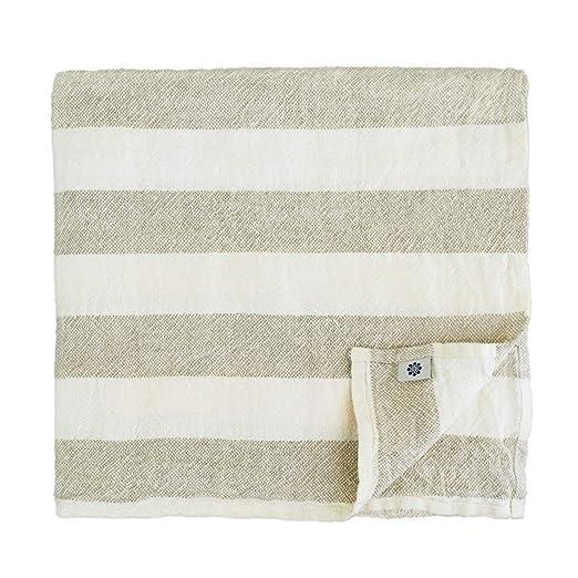 Blanco//Natural Linen /& Cotton Muy Suave Toallas de Ba/ño Marcus de 100/% Puro Lino Lavado 30 x 50cm