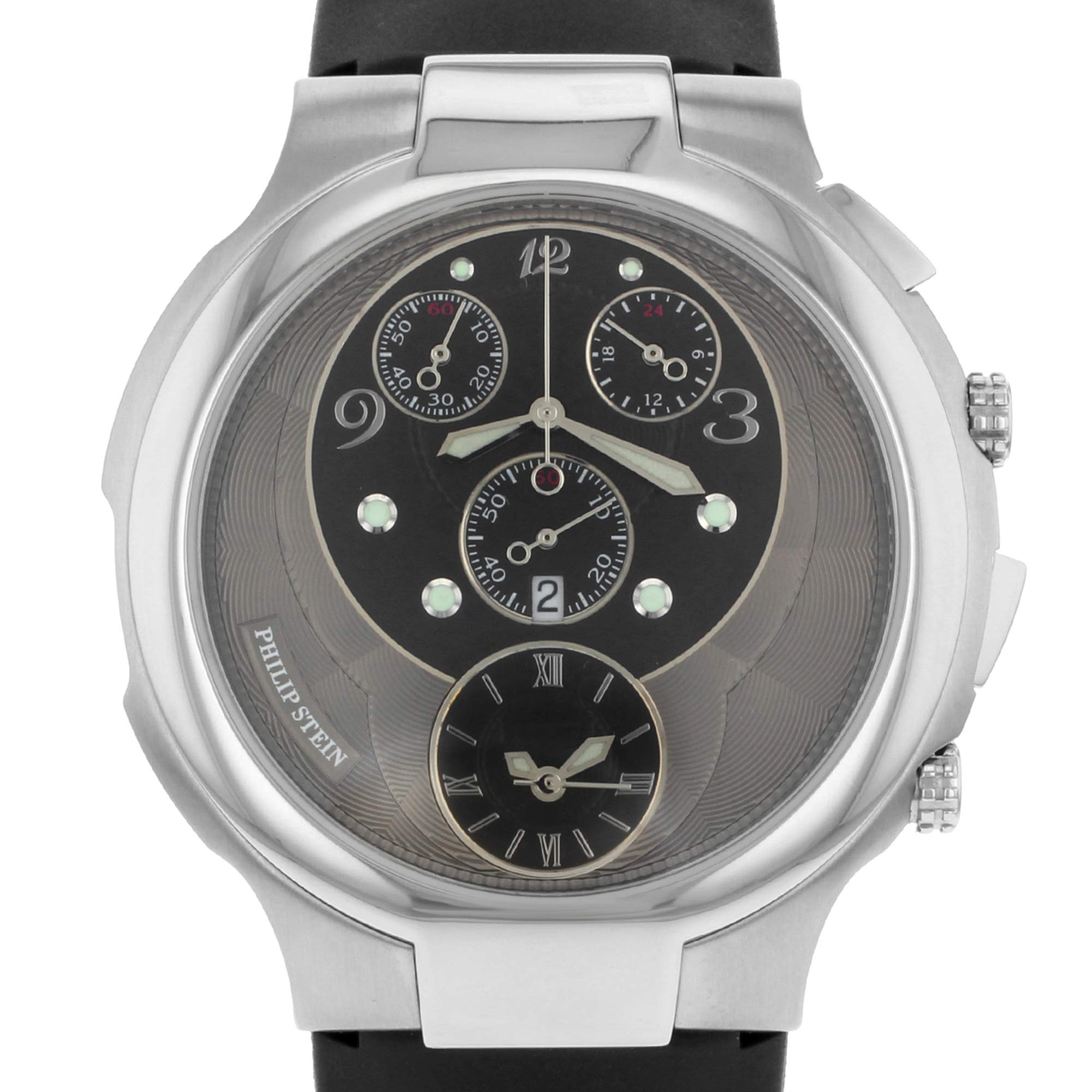 Philip Stein Chrono Analog-Quartz Male Watch 9-CRB3-CB (Certified Pre-Owned) by Philip Stein (Image #2)