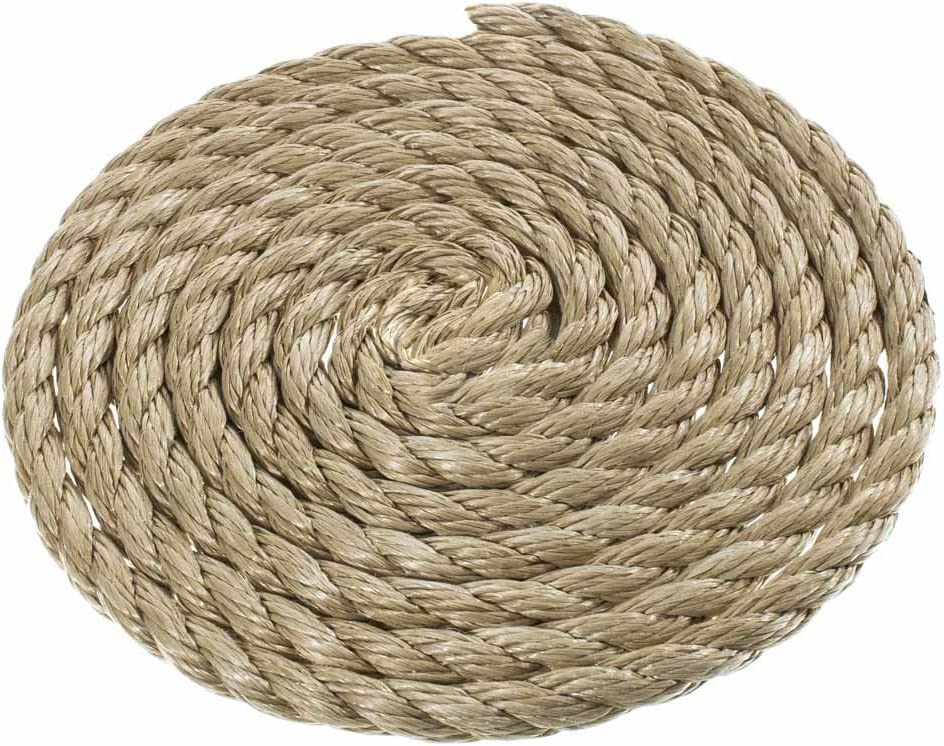 All Purpose ProManila Cord for Decor and Landscaping Tug of War Rope 1//2 Inch x 100 Feet UnManila Polypropylene Rope Cordage Sporting Crafts