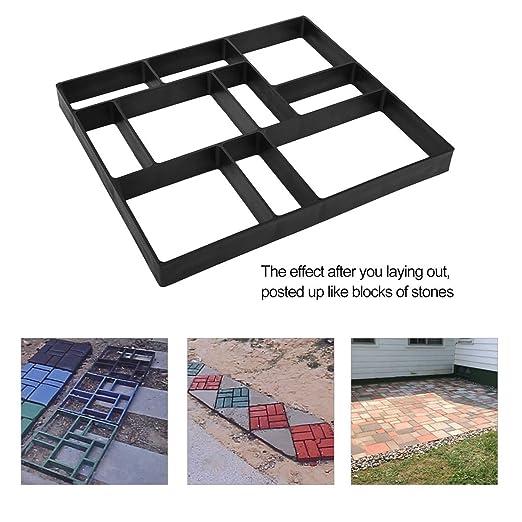 DIY Patrones Irregulares/rectangulares Pavimento Personalizado Hormigón Ladrillo Piedra Jardín Decorativo Exterior Césped Fabricante, Negro: Amazon.es: ...