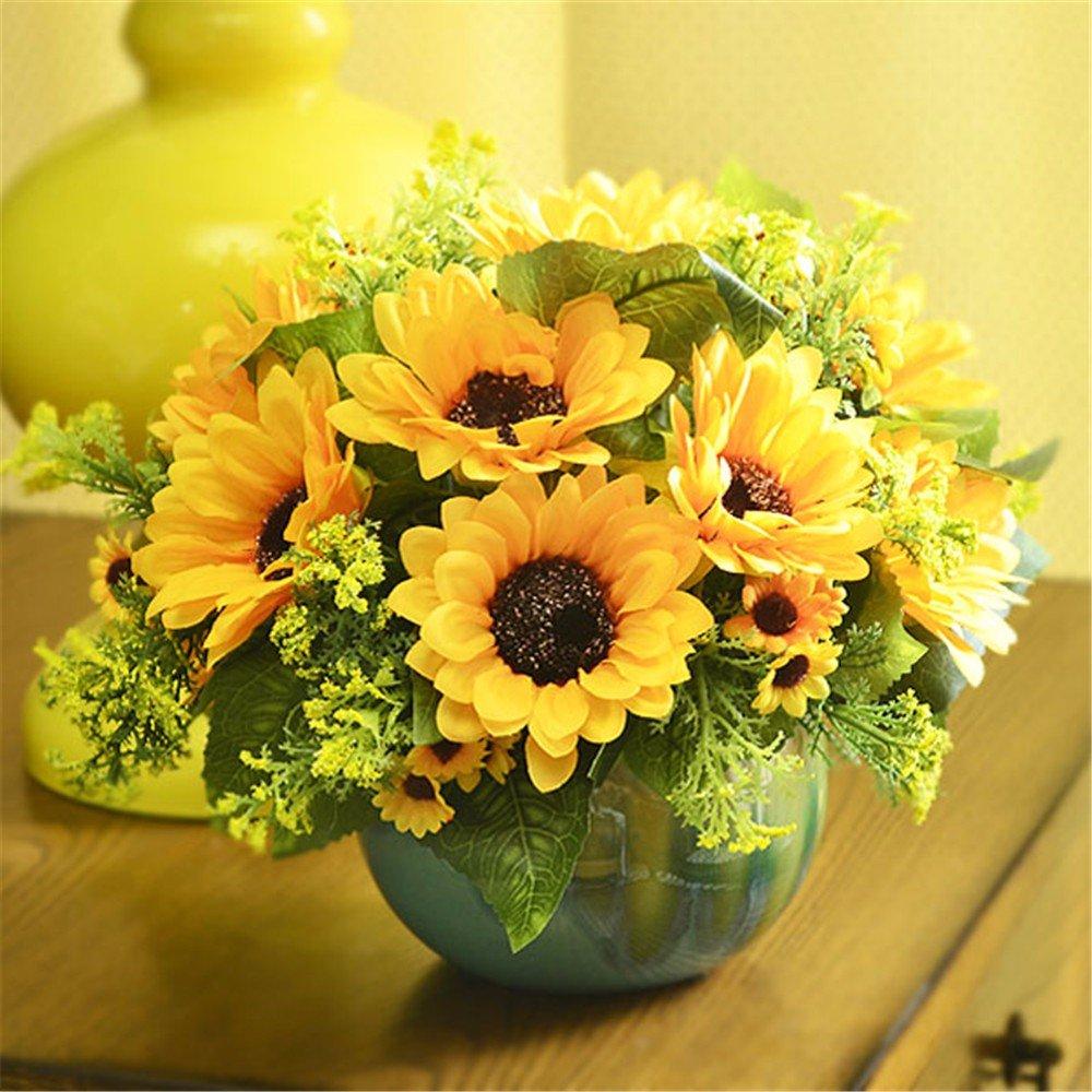 DSAAA Künstliche Fake Blume Home Kunststoff Seide Blumen Dekor ...