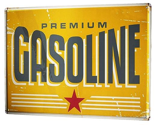 Cartel Letrero de Chapa XXL Retro Gasolina: Amazon.es: Hogar