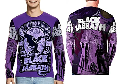 1e4682ce Black Sabbath US Tour 78 Ozzy Osbourne Merch Print Sublimation Man Top Size  : S to