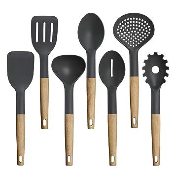TOPHOME - Juego de utensilios de cocina antiadherentes para ...