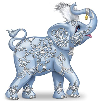 High Quality Thomas Kinkade Dazzling Delight: Collectible Elephant Figurine With  Swarovski Crystal By The Hamilton Collection