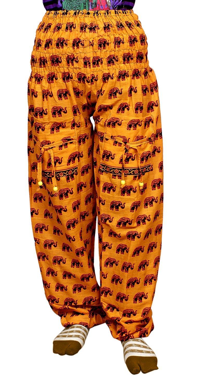 Krishna Mart Cotton Elephant Genie Harem Pants Boho Gypsy Trousers India