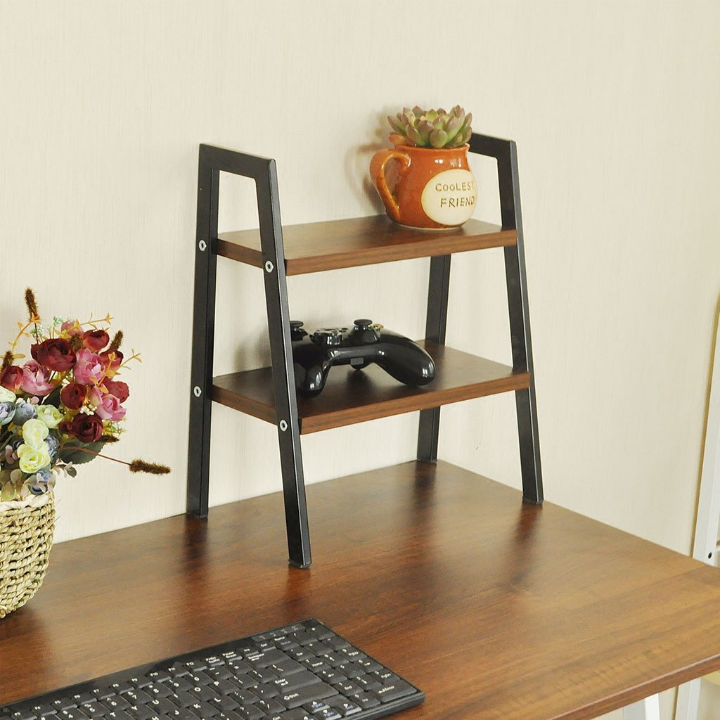 Solid Wood Flower Stand Suitable For Living Room Balcony Computer Desk | 4 color (Color : B)