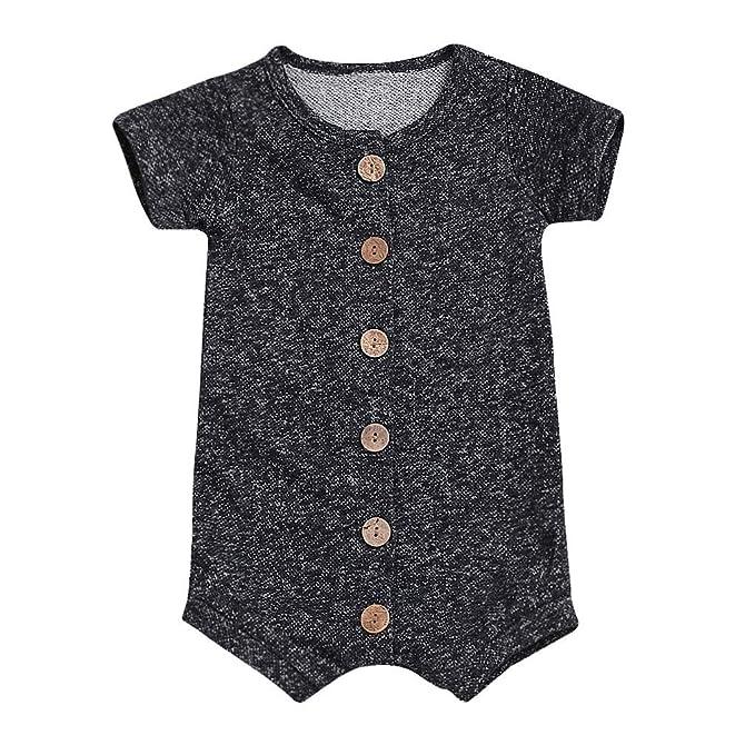 077c146425c3 Amazon.com  Infant Newborn Toddler Baby Boy Romper Bodysuit Summer ...