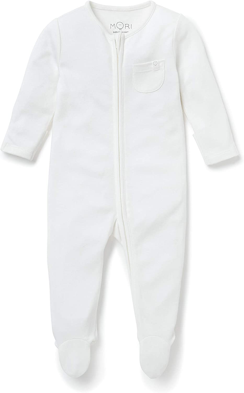 Available from Newborn up to 9 Months 0-3 M, Grey MORI Zip-Up Sleep /& Play One Piece 30/% Organic Cotton /& 70/% Bamboo from Viscose