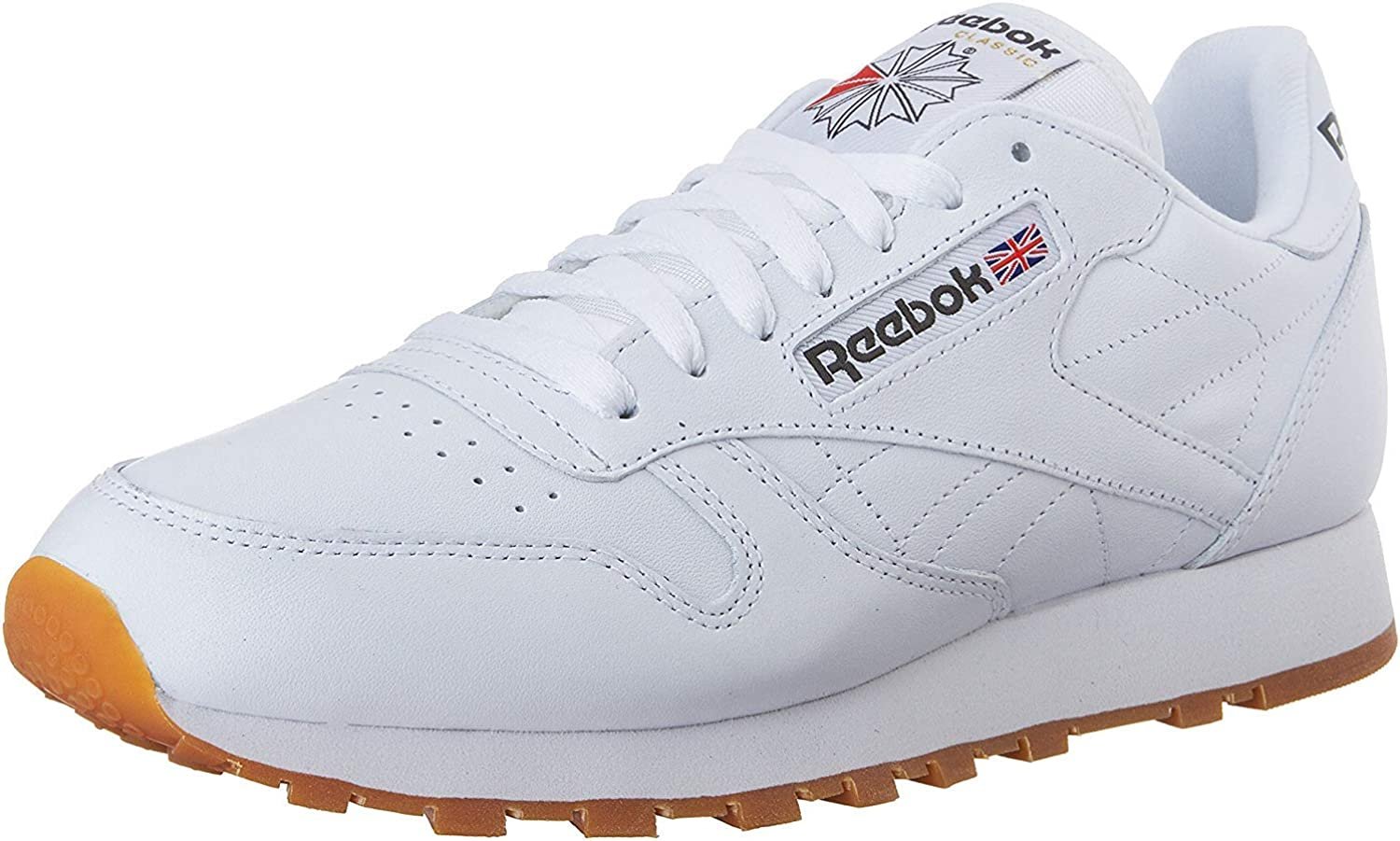 Retro Sneakers, Vintage Tennis Shoes Reebok Mens Classic Leather Fashion Sneakers White/Gum 11.5 M US $55.99 AT vintagedancer.com