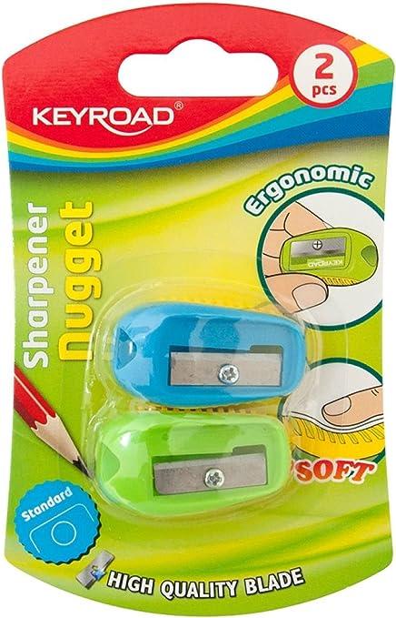 Keyroad KR970532 - Pack de 2 sacapuntas: Amazon.es: Oficina y papelería