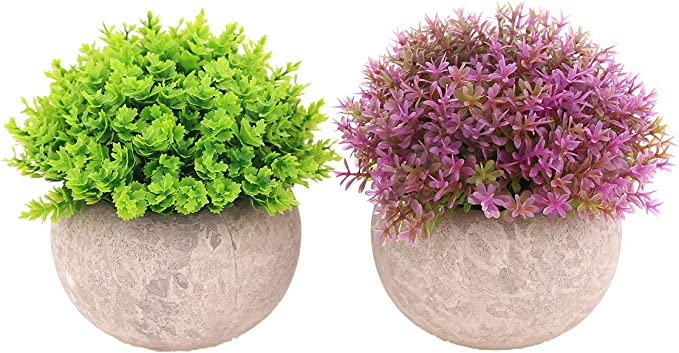 Amazon Com Ultraoutlet 2 Packs Small Artificial Plants In Pots