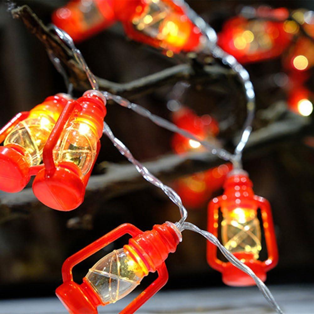 LED Red Mini Lantern String Lights Battery Powered